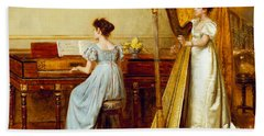 The Music Room Beach Towel by George Goodwin Kilburne