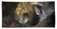 The Mystical Garden - Abstract Art Beach Towel