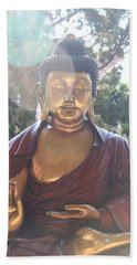 The Mystical Golden Buddha Beach Towel