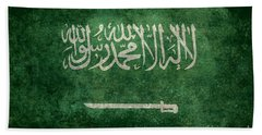 The National Flag Of  Kingdom Of Saudi Arabia  Vintage Version Beach Towel