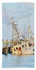The New Hope Sunken Ship - Ocean City Maryland Beach Towel
