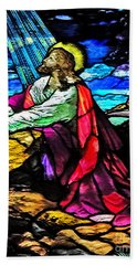 The Night Before The Cross Beach Towel by Lydia Holly