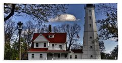 Beach Towel featuring the photograph The Northpoint Lighthouse by Deborah Klubertanz