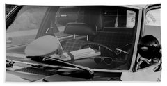 Beach Towel featuring the photograph The Office On Wheels by Jim Thompson