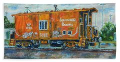 The Old Caboose Beach Towel