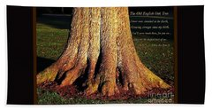 The Old English Oak Tree Beach Towel