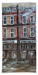 Beach Towel featuring the painting The Old Store by Eloise Schneider