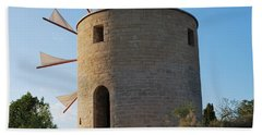 The Old Windmill 1830 Beach Towel by George Katechis