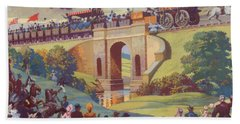 The Opening Of The Stockton And Darlington Railway Macmillan Poster Beach Towel