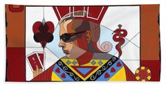 The Oracle Poker Player Beach Towel