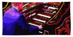 The Organ Player Beach Towel
