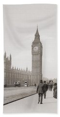 The Palace Of Westminster, Aka The Houses Of Parliament Or Westminster Palace, London, England Beach Towel