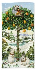 The Partridge In A Pear Tree Beach Towel