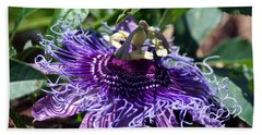 The Passion Flower Beach Towel by Kim Pate