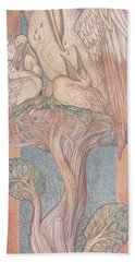 The Pelican, Cartoon For Stained Glass For The William Morris Company, 1880 Coloured Chalk On Paper Beach Towel