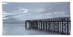 The Pier Beach Towel by Kim Hojnacki