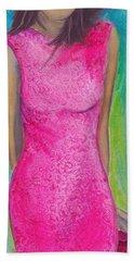 The Pink Dress Beach Towel
