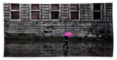 The Pink Umbrella Beach Towel