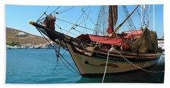 The Pirate Ship  Beach Towel
