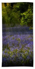 Beach Towel featuring the photograph The Pixie's Bluebell Patch by Chris Lord