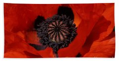 The Poppy Is Also A Flower Beach Towel