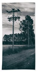 Beach Towel featuring the photograph The Power Lines  by Howard Salmon