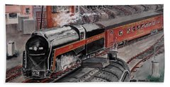 The Powhatan Arrow Roars Through The Yards Into Portmouth Beach Towel
