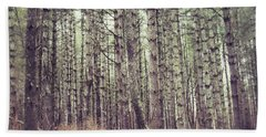 Beach Towel featuring the photograph The Preaching Of The Pines by Kerri Farley