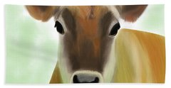 The Pretty Jersey Cow  Beach Towel