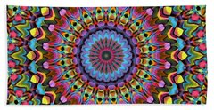 The Psychedelic Days Beach Sheet by Lyle Hatch
