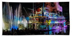 The Mark Twain Disneyland Steamboat  Beach Towel