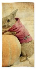 The Rabbit And The Pumpkin Beach Towel