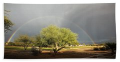 The Rain And The Rainbow Beach Towel