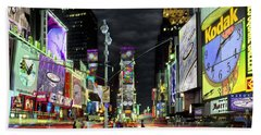 The Real Time Square Beach Towel