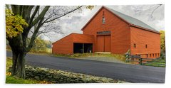 The Red Barn At The John Greenleaf Whittier Birthplace Beach Towel
