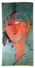 The Red Head Beach Towel by Pg Reproductions