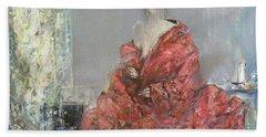 The Red Kimono Beach Towel
