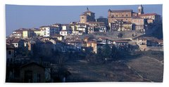 The Region Of Barolo At Sunset Beach Towel
