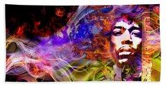 The Return Of Jimi Hendrix Beach Towel