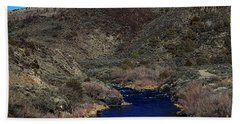 The Rio Grande River-arizona V2 Beach Towel