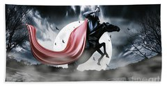 The Rise Of The Headless Horseman Beach Towel
