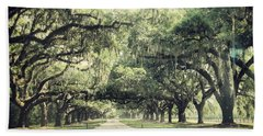 The Road From Boone Hall Beach Towel