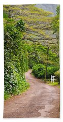 The Road Less Traveled Beach Sheet by Denise Bird