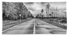 Beach Towel featuring the photograph The Road Less Traveled by Howard Salmon