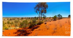 The Road To Uluru Beach Towel