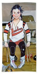 The Roller Derby Girl With A Black Eye Beach Towel