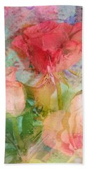 The Romance Of Roses Beach Towel by Carla Parris