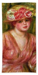 The Rose Hat Or Portrait Of Lady Hessling Beach Towel