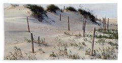 The Sands Of Obx Beach Towel by Greg Reed