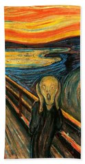 The Scream Edvard Munch 1893                    Beach Sheet by Movie Poster Prints